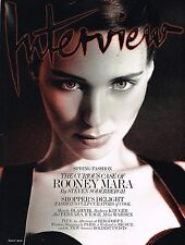 INTERVIEW March 2013 ROONEY MARA Kati Nescher SASKIA DE BRAUW Manolo Blahnik VGC