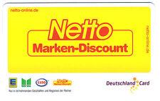 DeutschlandCard Punkte Sammel Karte + Partnercard NETTO Marken-Discount 2 Karten