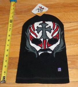 2015 WWF WWE Rey Mysterio Jr Wrestling Knit Winter Stocking Cap Ski mask New WCW