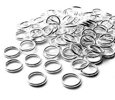 100 x Strong Silver Plated 10mm Closed Soldered Jump Ring Connector 1.2mm thick