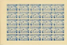 PALESTINE 1940's BRITISH PALESTINE & TRANS JORDAN RED CROSS APPEAL STAMPS SHEET