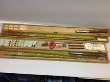 Grampus Split Bamboo Fishing Rods X 2 ,boxed ,with Flies,floats Etc