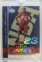 2003-04 UD SUPERSTARS LeBron James Rookie RC #LBJ4, Hard to Find Limited Insert