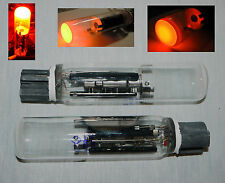 ILD3-K / ИЛД3-К Rare USSR CRT VFD Indicator Tube Red + Socket, Lot of  1 pcs