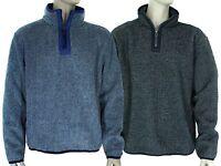 Men's Double Pile Wind Resistant Half Zip Thick Fleece Outdoor Top Size M to XXL