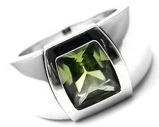 Rare! Authentic Cartier La Dona 18k White Gold Peridot Ring Box Certificate