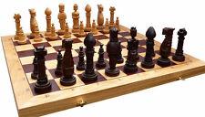 élégant Jeu d'échecs/échiquier Oak 65 x 65 cm, KH 150 mm, bois (trèfle)