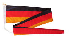 More details for germany flag pennant streamer with rope and toggle - various sizes
