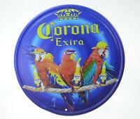 "Corona Extra Parrot Macaw Beer Lager Retro Tin Metal Sign Bar Pub 12"" Advert NEW"