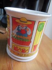 """Whittard """"Just Pottering in the Garden"""" Extra large coffee/tea mug, NEW."""
