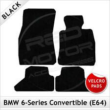 BMW 6-Series E64 Convertible 2003-2010 Velcro Pads Tailored Carpet Mats BLACK