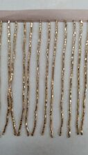 10 yards ,4 inches, seed bugle beaded fringe rose gold ,usa seller ,custome dyed