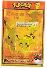 Pokemon Postage Stamp Sheet Nintendo Season's Greetings 2000 Christmas Pikachu