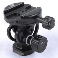 2D Metal Ball Head+Clamp for Camera Tripod Monopod Ballhead &Quick Release Plate