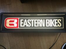 "Vintage EASTERN BIKES Lighted Sign -- about 28"" x 9"""
