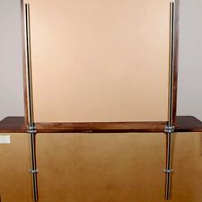 """Dresser & Chest Mirror Supports Support 60"""" w/ Mounting Brackets (NO HOLES)"""