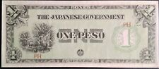 PHILIPPINES 1 Peso CHOICE UNC 1942 P 106b buff paper variety JIM Japan Occ WWII