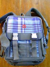 Rucksack , Ranzen , gebraucht ; blau - grau ; 33 x 35 cm