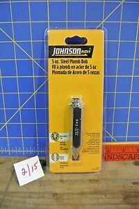 Johnson 502 Steel Plumb Bob NEW 2 of 2