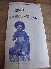 """T1 PATRON POUPEE """"BAIGNEUR MICHEL"""" MODES ET TRAVAUX"""""""" COMBI SPORT A CAPUCHE 1976"""