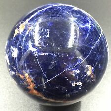 MAGIC-332g 64mm Natural Sodalite Sphere&Stand Polished Healing H8815