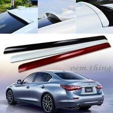 Painted For INFINITI Q50 V37 Sedan Roof Sport Window Visor Spoiler 14-15 PUF New