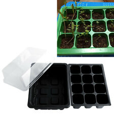 New Durable 12 Cells Hole Plant Seeds Grow Box Tray Insert Cloning Case