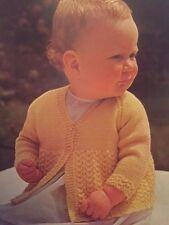 """Cb26 - Knitting Pattern - baby's 4-ply Cardigan - Any Colour - 18 [20, 22]"""""""