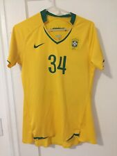 Brazil Womens Soccer Jersey Medium Nike Brasil Futebol Shirt Authentic Fit