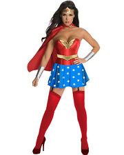 Sexy Wonder Woman Girl Costume w/Corset Outfit for Cosplay Halloween (Size XL)