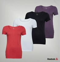 Ladies Reebok Ribbed Straight Short Sleeve Crew Neck T Shirt Sizes from 4 to 22