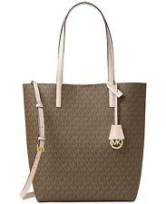 NWT MICHAEL Michael Kors Hayley MOCHA Large Convertible Tote Shoulder Bag $198