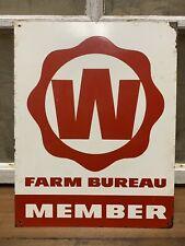Vintage Old Original Wisconsin Farm Bureau Member Sign Greenback Feed Farm Seed