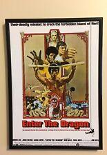 Introduce el Dragón Bruce Lee A4 260gsm Enmarcado cartel impresión