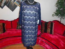 JESICCA HOWARD WOMAN NEW NAVY FLORAL LACE COCKTAIL DRESS PLUS 20W $99
