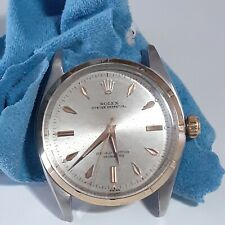 Vintage Rolex Oyster Perpetual 34 mm Automatic Two Tone Watch 6565 Head Only