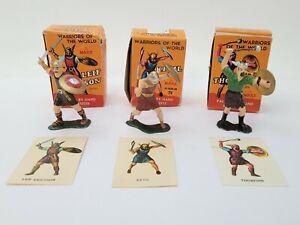 Vintage Lot of 3 Marx Warriors of the World Vikings Leif Ericsson Ketil Thorfinn
