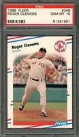 1988 fleer #349 ROGER CLEMENS boston red sox PSA 10