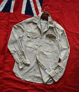 Rare Ralph Lauren RRL British Army Aertex Cloth Military Shirt Size S Vintage