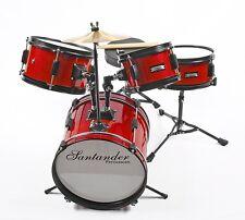 Santander Kinderschlagzeug Schlagzeug, Drum, Komplett Set, inkl. Hocker+ Sticks