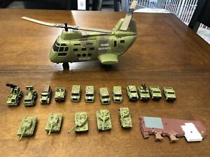 HUGE Vintage Galoob Micro Machines Lot Military Vehicles, Tanks, Helicopter