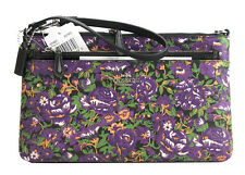 NWT Coach 57987 Rose Meadow Violet Floral Large Pop Pouch Cluch