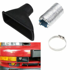 Car Front Bumper Cold Air Intake Pipe Filter Injection System Funnel Universal