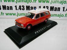 NOR1A Coche 1/43 Norev : Peugeot 504 Estate Ambulancia Bomberos