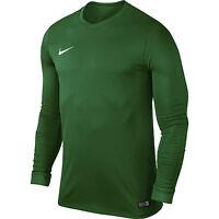 Nike Mens Park Long Sleeve Jersey Dri Fit Football Shirts Kits Top Sports