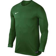 Nike Mens Park VI Long Sleeve Jersey Dri Fit Football Shirts Kits Top Sports Green M