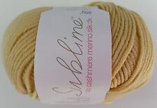 SUBLIME BABY CASHMERE MERINO SILK DK: 359 Sabbia Knitting Wool Yarn