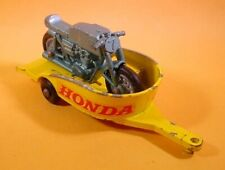 MATCHBOX LESNEY HONDA MOTORCYCLE & TRAILER 38C-3 LOOSE