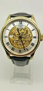 Men's Rotary Vintage Mecanique Skeleton Automatic Watch  GS02941/03 (191F)