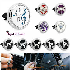 Stainless Perfume Aromatherapy Essential oil Diffuser Locket clip for Car Office
